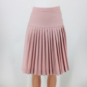 J. Crew Blush Pink Lined Pleated Skirt